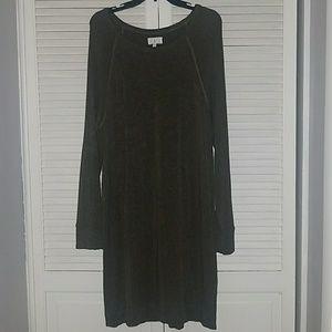 NWOT LOFT Lou & Grey Dark XXL Green Stretchy Dress